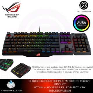 Asus ROG Claymore Mechanical RGB Keyboard Cherry MX Red / Blue Switch