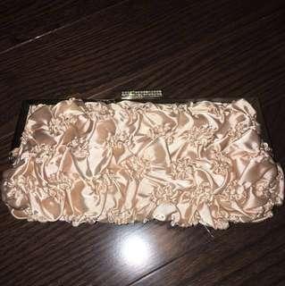 Blush pink evening bag