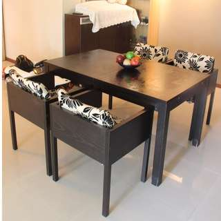 Dining Expandable Table with Chair