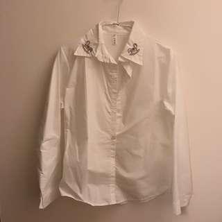 白長袖襯衫