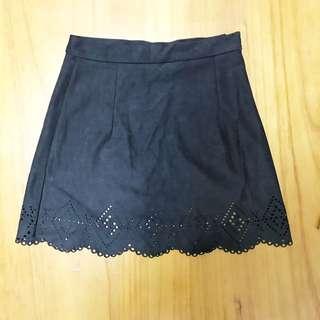 麂皮A字短裙(M)