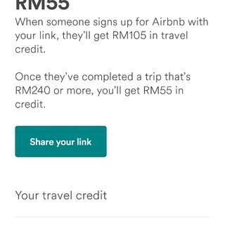 Share Airbnb Credit
