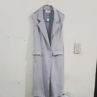 韓版無袖西裝款修身背心