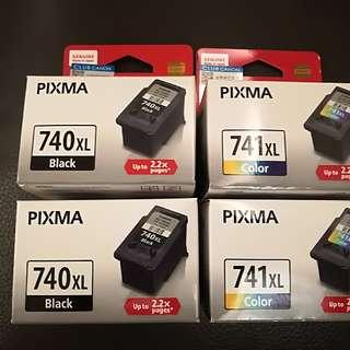 Canon PG-740XL, CL-741XL墨水