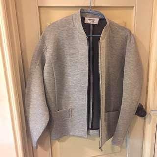 MANGO 灰色拉鏈外套