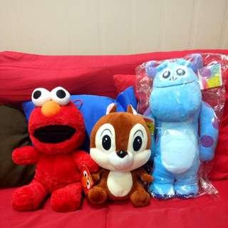 🚚 【全新免運】中型娃娃們 Elmo 毛怪 奇奇蒂蒂