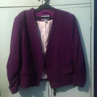 Purple Blazer (H&M)