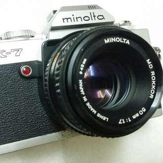 Minolta X-7 + Lens MD Rokkor 50mm 1.7