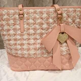 Lavina Tweed Fabric Tote Bag