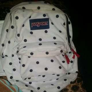Black and White jansport backpack