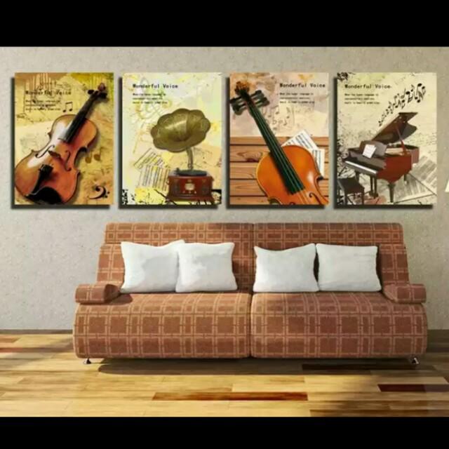 音樂教室☆套裝☆30*40無框畫☆裝飾畫壁畫掛畫藝術畫/店面客廳臥室玄關裝飾/簡約現代藝術北歐風/裝潢佈置室內設計