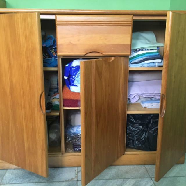 5 Doors solid pinewood Cabinet