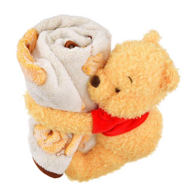 日本連線🐜🐜日本迪士尼小熊維尼收納小毛毯