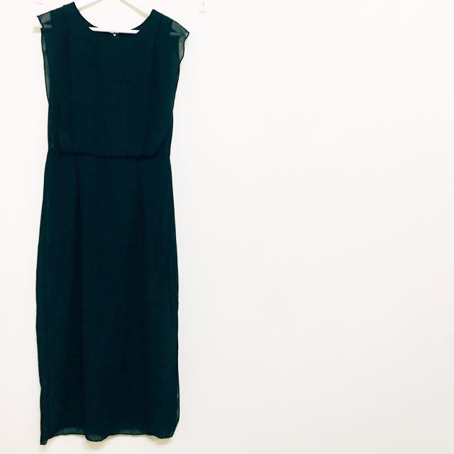 優雅浪漫垂綴透視感連身洋裝