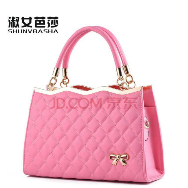 淑女芭莎 粉紅色 包包