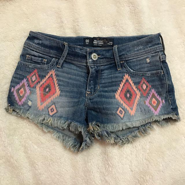 全新 Hollister 民族風 牛仔 短褲