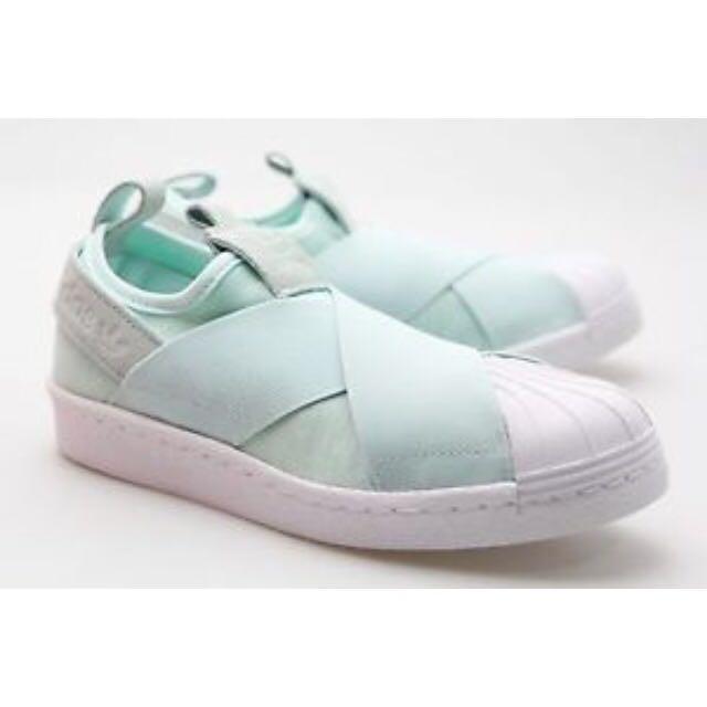 Women Shoes On Adidas Green Slip Women's Fashion Mint Superstar xzZrZ8nwt