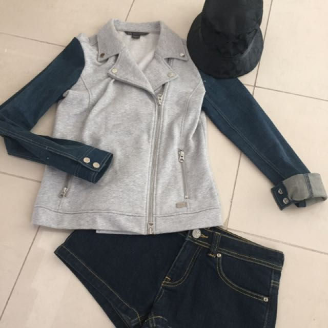 Armani jacket - Roxy shorts ($10)