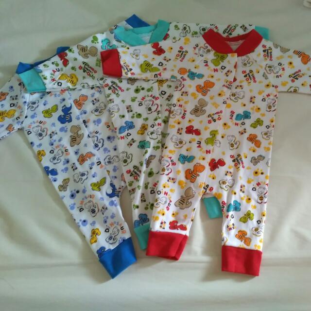 baby sleepwear dino 3pcs Velvet baby