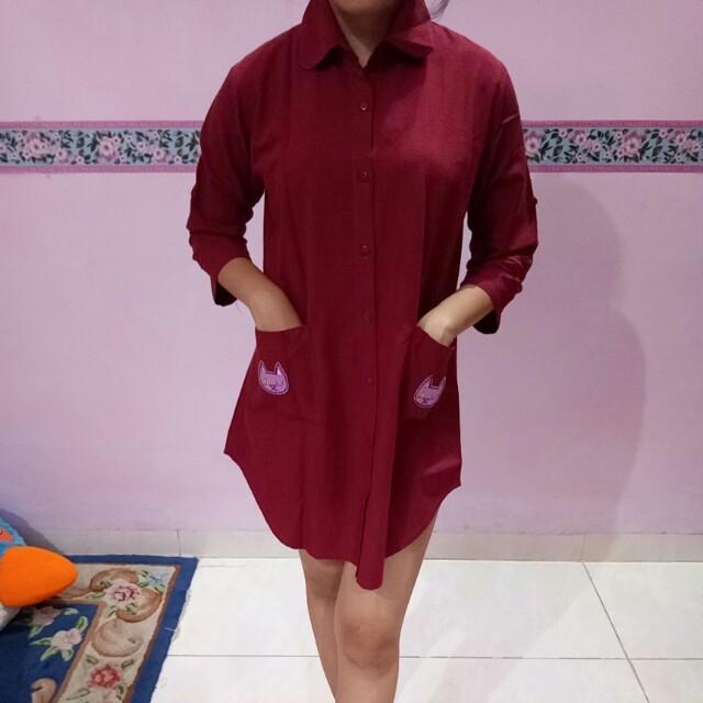 Baju terusan merah