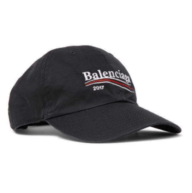 bf74c4b55a6 Balenciaga 2017 Political Cap Black (with receipt)