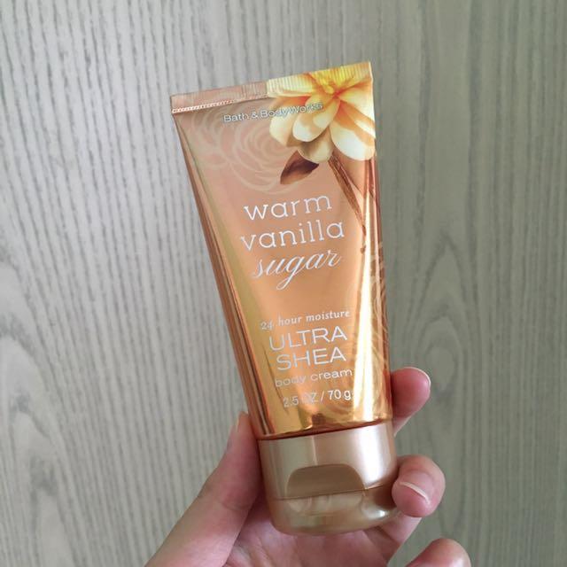 "Bath and body works ""warm vanilla sugar"" ultra shea body cream"