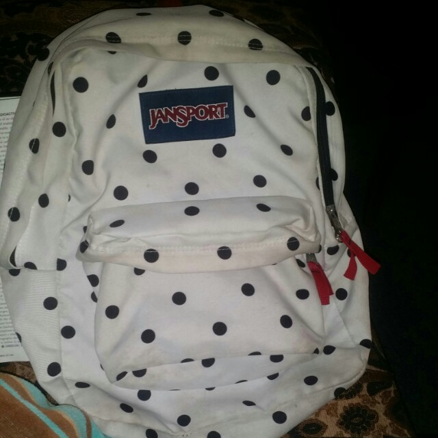 Black and White jansport backpack