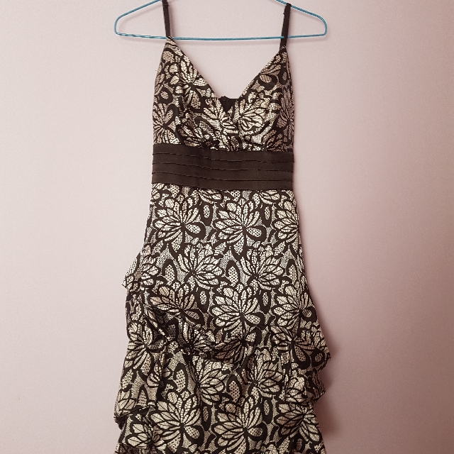 Black n White Silk Dress