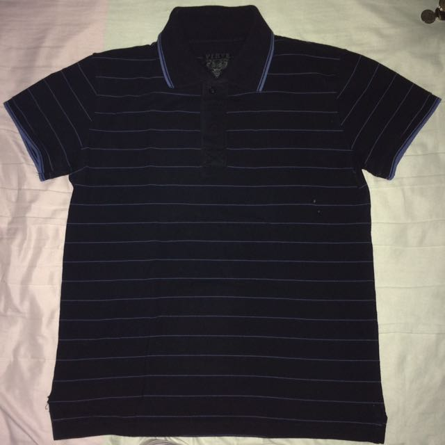 Black Striped Vurve Polo Shirt