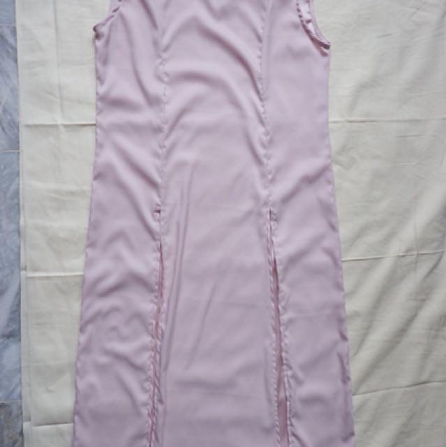 Blush Front Slit Dress