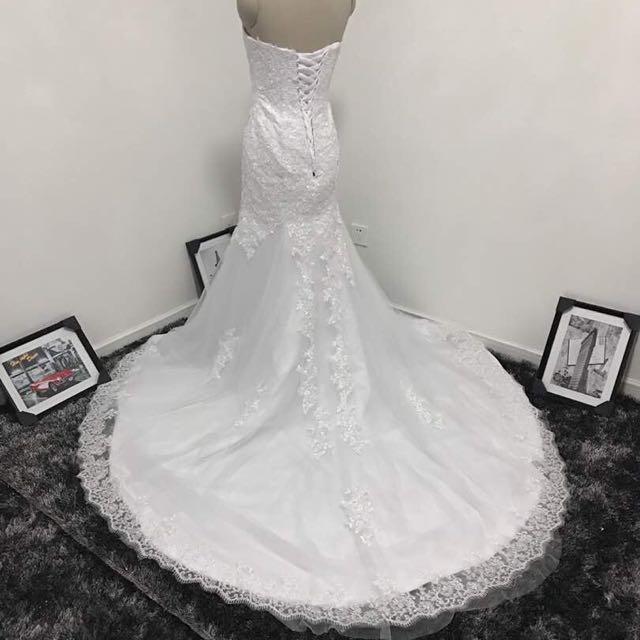 BN Mermaid Cut Wedding Gown W Train, Women\'s Fashion, Clothes ...