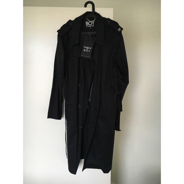 BOY LONDON MAC COAT BLACK Overcoat