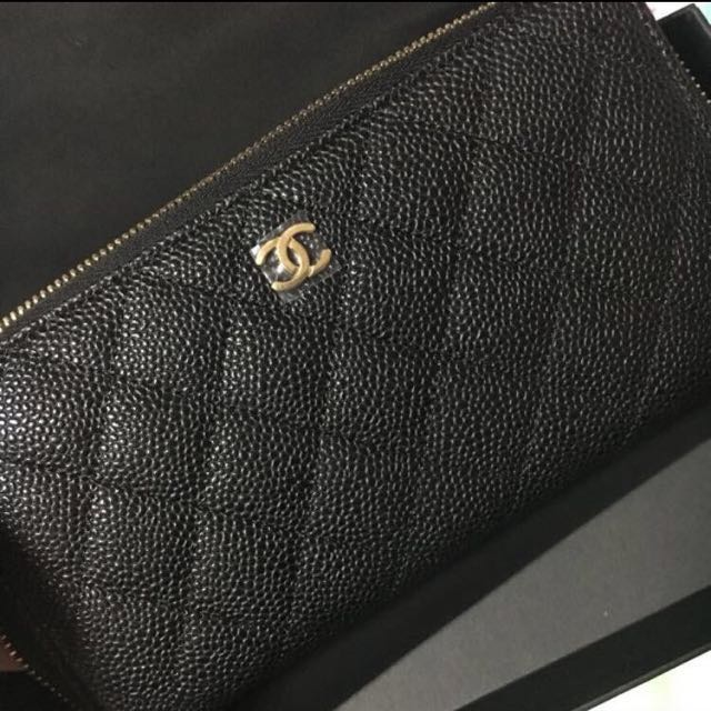 d1619aceb0b9 Brand New Authentic Chanel Long Wallet (Caviar)