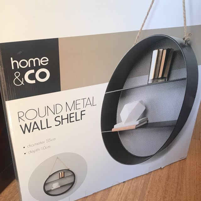 BRAND NEW KMART Round Metal Wall Shelf