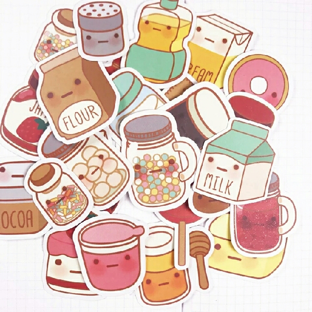 BUY 3 FREE 1 Kawaii Baking Supplies Sticker Design Craft