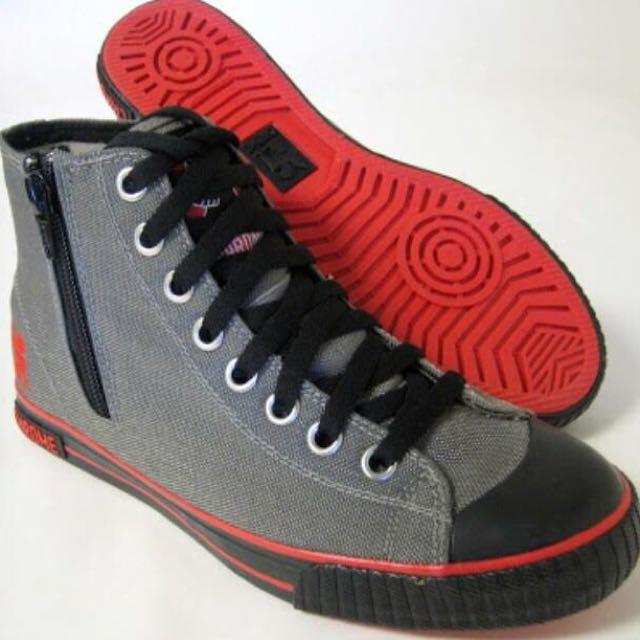 Chrome High Cut Sneakers