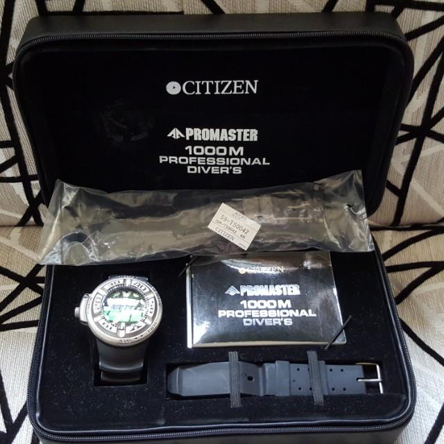 (正品)日本國CITIZEN深潛1000米鈦殼Promaster機械錶