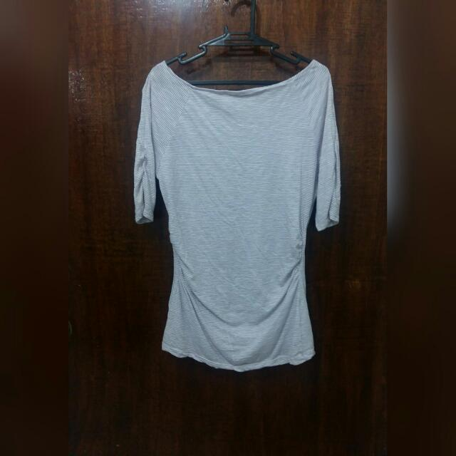 Cotton Blouse With Side Curls