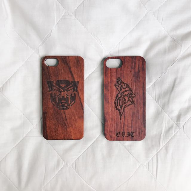 Customized Wood Cases for iPhone and Samsung