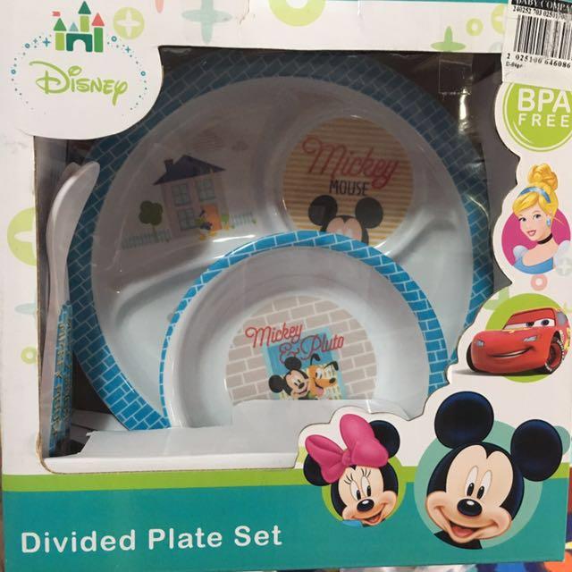Disney mickey plate set