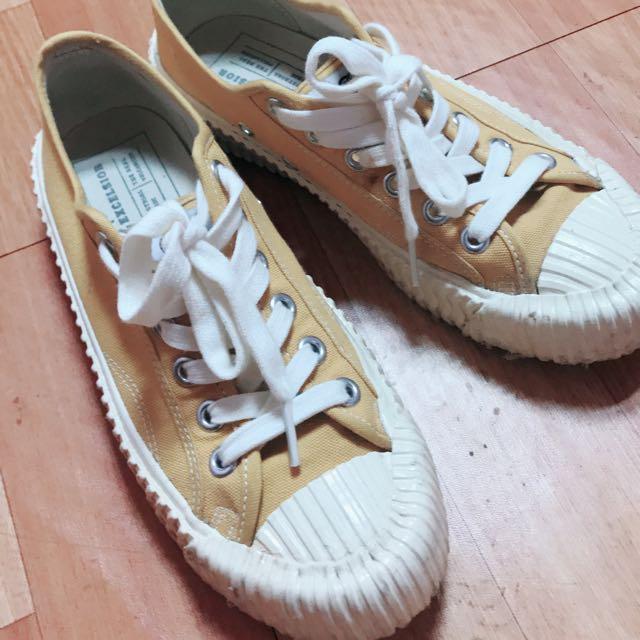 Excelsior 餅乾鞋 (芥黃色/白底)