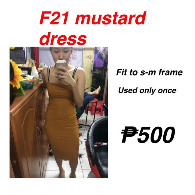 F21 mustard dress
