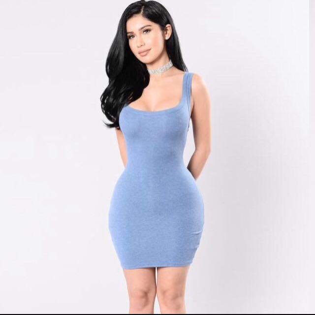 Fashion Nova Blue Tank Dress