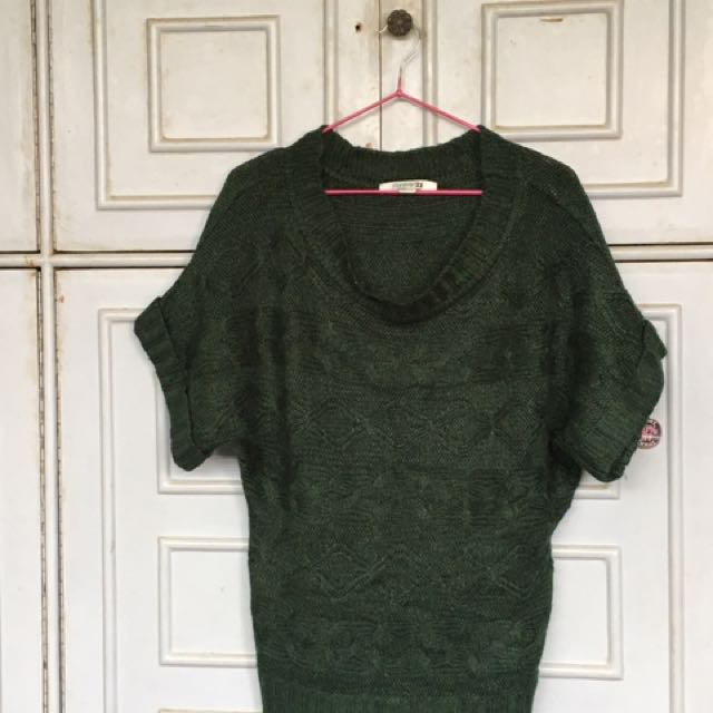 Forever 21 Forest Green Cable Knit Sweater