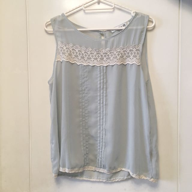 Forever 21 see-through sleeveless blouse
