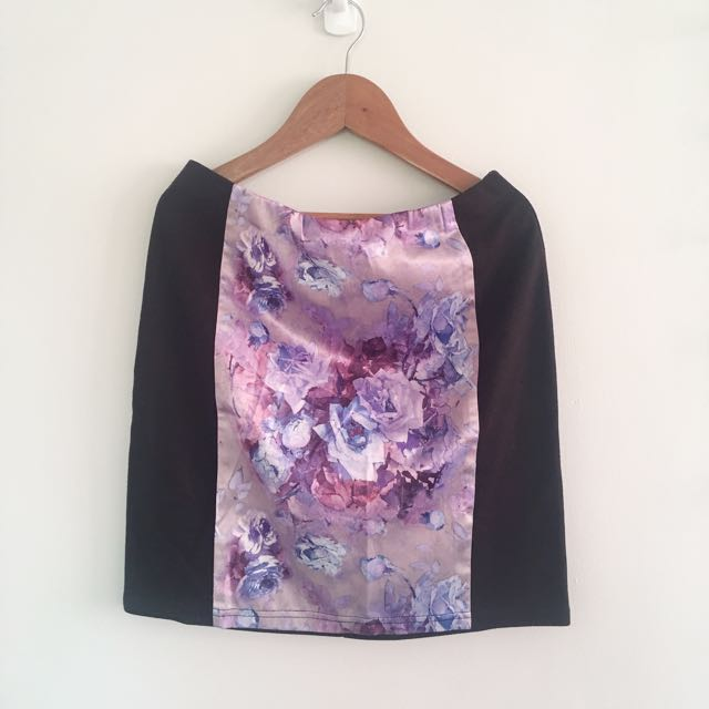 ForMe Silk Rose Pencil Skirt