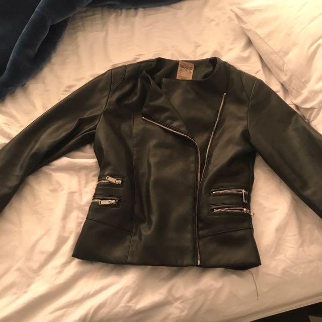 Gorgeous leather Zara jacket - biker