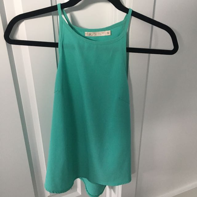 Green High Neck top size 6