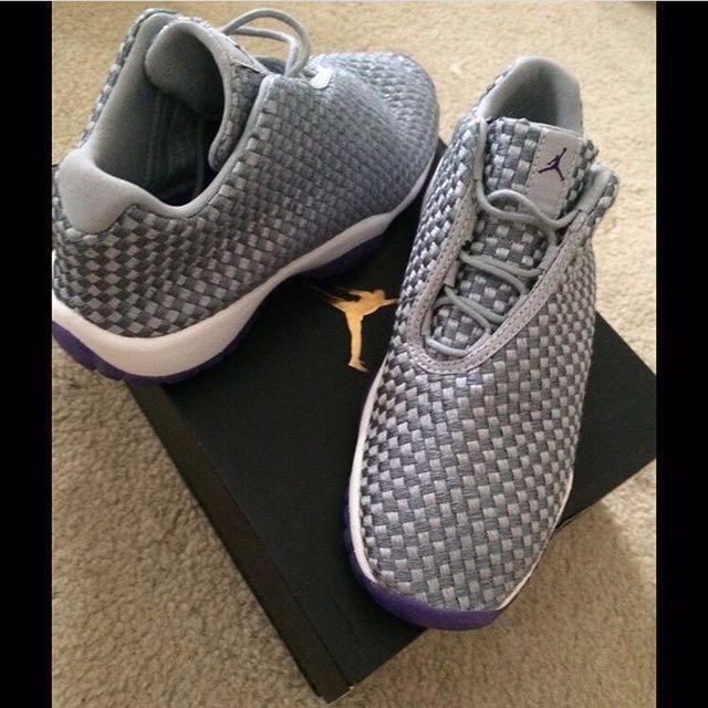 Grey & purple Jordan Futures