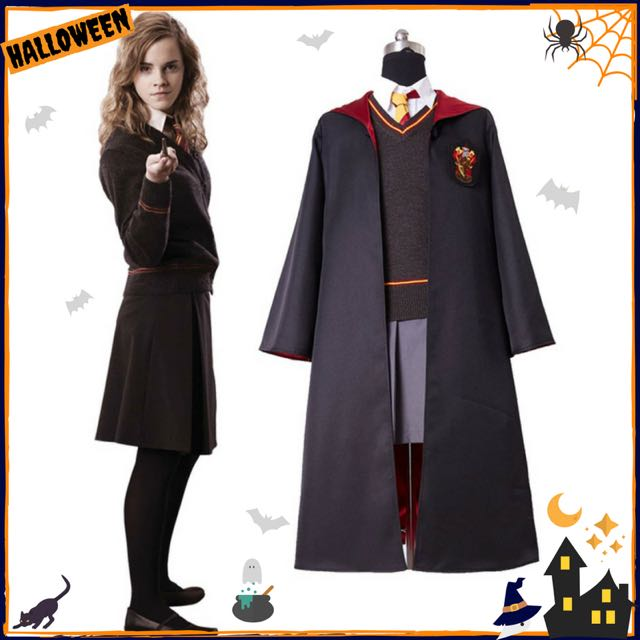 gryffindor uniform hermione granger cosplay costume adult version cotton halloween party new gifts for harry potter cosplay womens fashion clothes